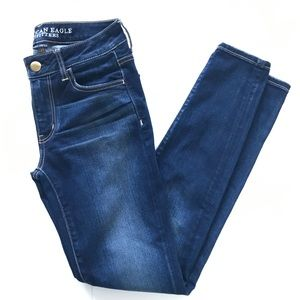 American Eagle 🦅 Blue Jean Jeggings Size 4